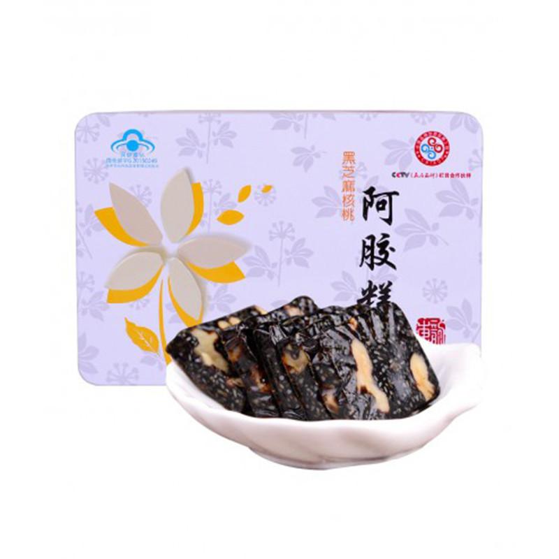 东阿东韵 黑芝麻核桃阿胶糕(铁盒)300g
