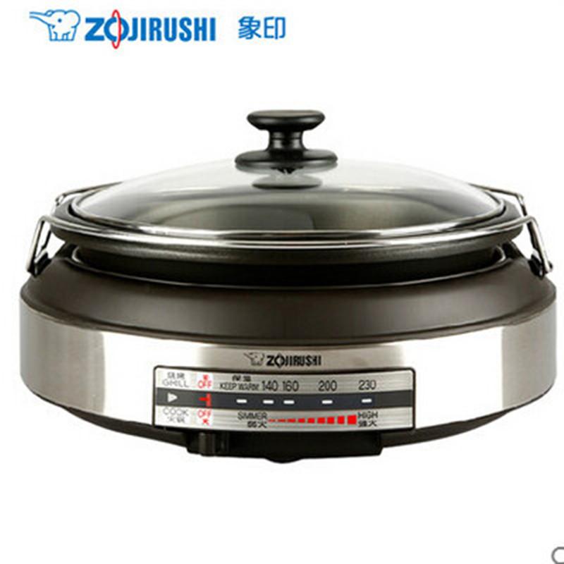 象印(ZO JIRUSHI)電熱火鍋EP-LAH15C日本象印多功能電火鍋 燒烤火鍋兩用2.3L