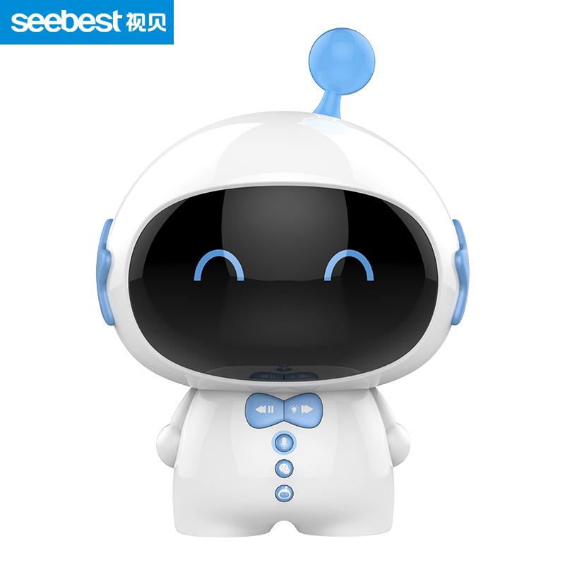 視貝seebest智能語音對話兒童陪伴機器人早教故事機學習機 Z11星寶藍
