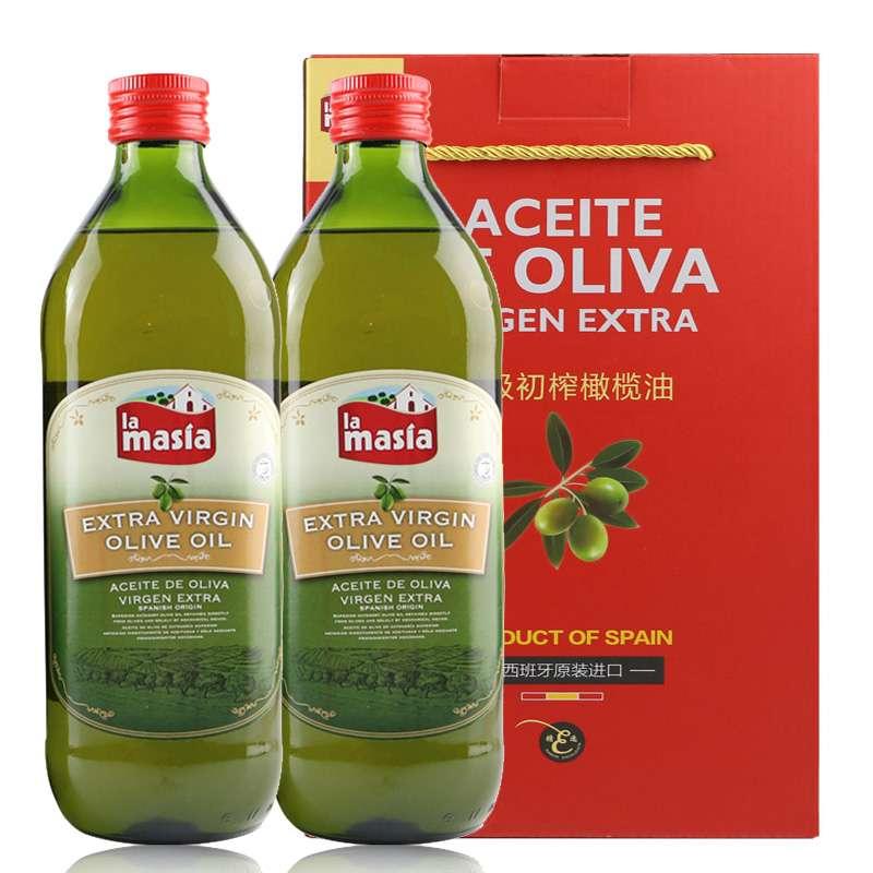西班牙进口 欧蕾特级初榨橄榄油简装礼盒1L*2