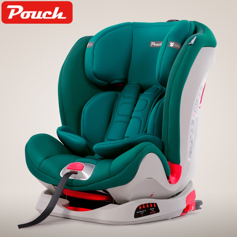 Pouch安全座椅9月-12周岁儿童安全座椅isofix硬接口车载安全座椅 KS02 II代