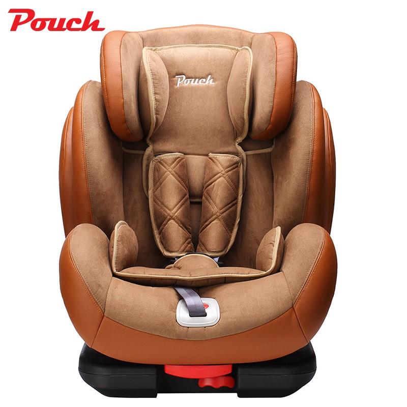 Pouch安全座椅9月-12周岁儿童安全座椅isofix硬接口车载安全座椅KS02