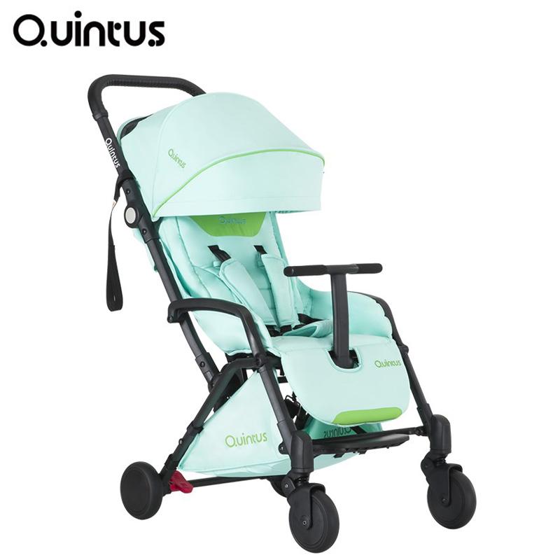 德國quintus昆塔斯寶寶避震折疊輕便兒童bb幼嬰兒推車可坐躺傘車N77