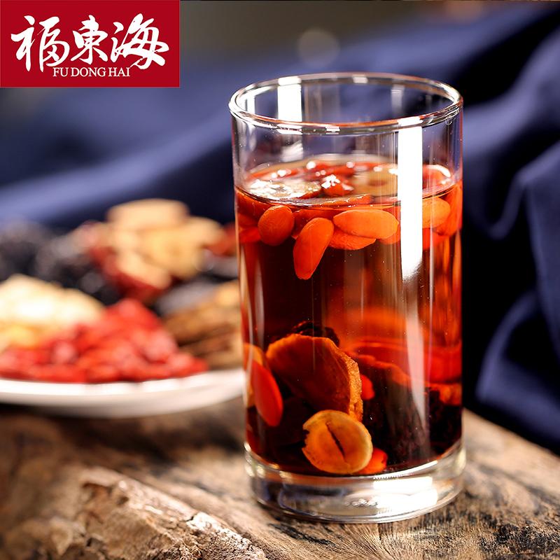 福东海人参五宝茶红枣桂?#33590;?#26462;茶八宝茶养生茶2盒装