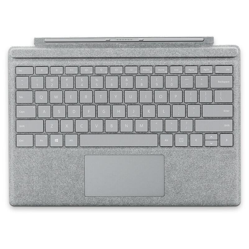 微軟 新Pro鍵盤 彩色鍵盤 亮鉑金