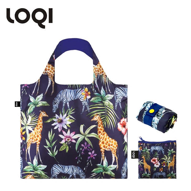 LOQI春卷包 艺术系列单肩包时尚可爱文艺女包  斑马鹿 环保万用袋