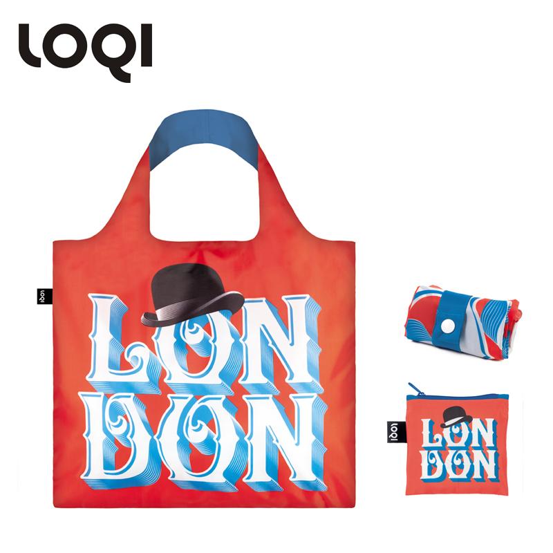 LOQI春卷包 艺术系列单肩包时尚可爱文艺女包  黑帽伦敦 环保万用袋