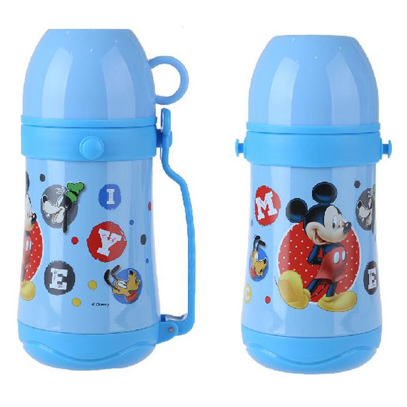 迪士尼600ML兒童保溫杯戶外保溫壺米奇米妮形象保溫杯HM3143藍色
