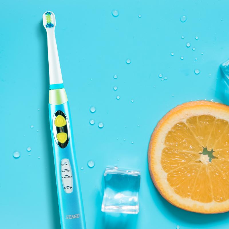 賽嘉兒童電動牙刷3-6-12歲充電聲波寶寶牙刷軟毛防水 EK8藍