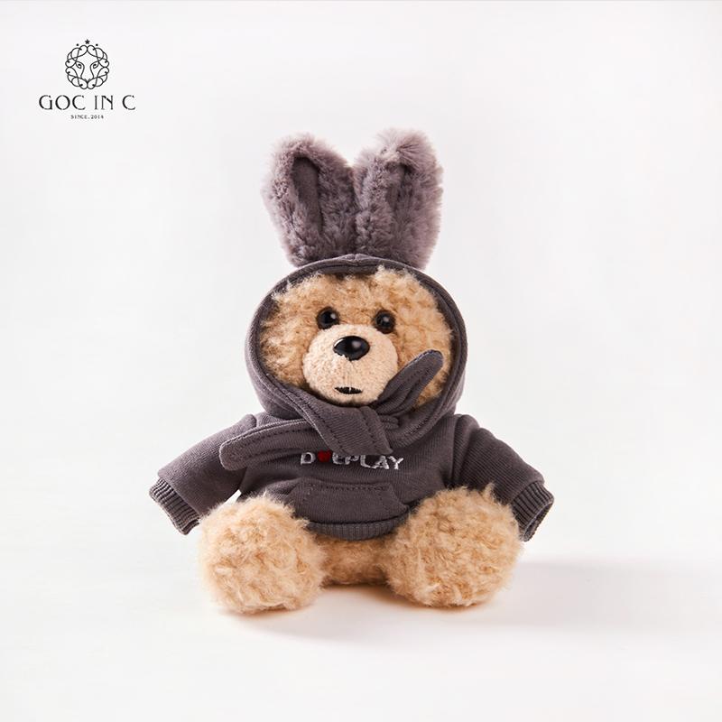 GOC IN C兔子熊充電寶潮流卡通毛絨移動電源XUB-DUE-1000(灰色)