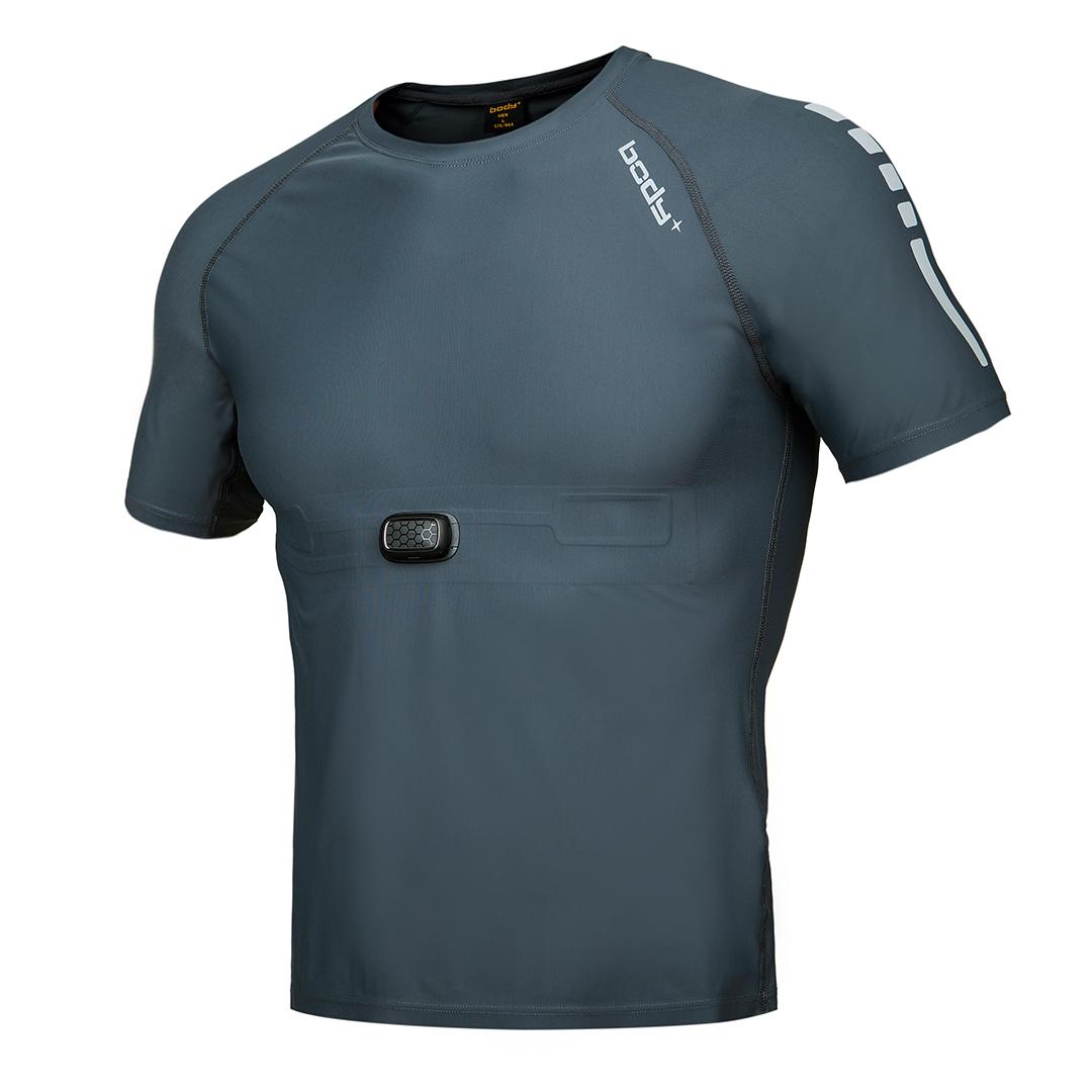 BodyPlus Aero 智能运动衣男士T恤(织物)套装深灰/L