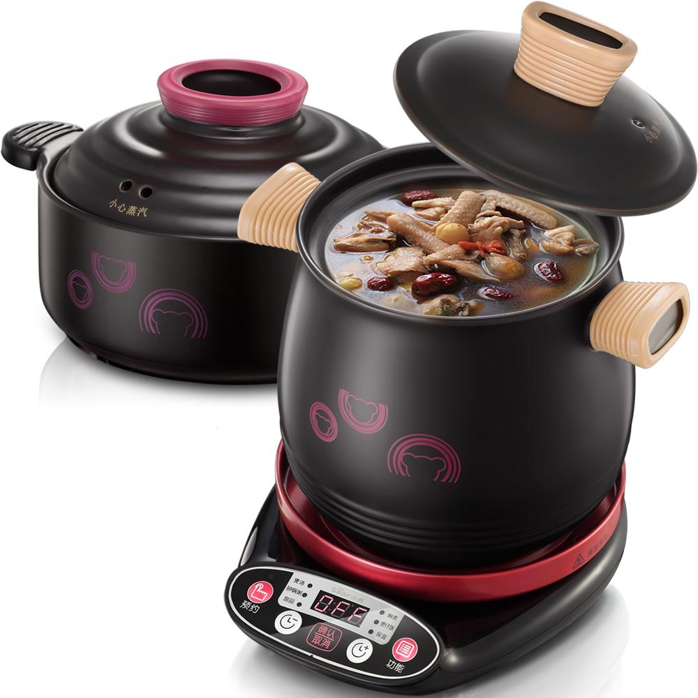 小熊(bear)电炖锅 陶瓷电砂锅煲汤锅焖锅全自动家用煮粥炖汤锅DSG-A30R5 2L+3L