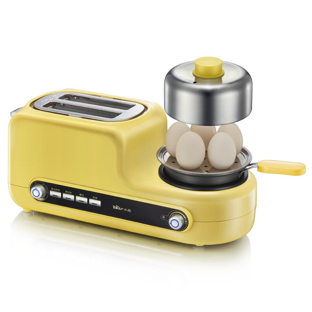 小熊(bear)煮蛋器 家用多功能早餐机吐司机 不锈?#32622;?#20320;煮蛋器蒸蛋煎蛋 ZDQ-D05Z2