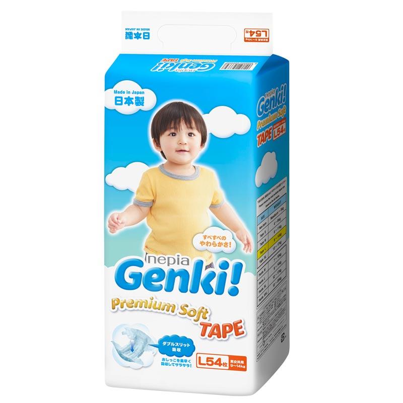 日本妮飄Genki嬰兒紙尿褲L54