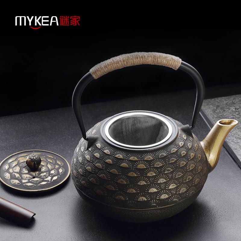 謎家1.8L松針純手工鐵茶壺茶具鑄鐵壺泡茶壺生鐵煮茶壺燒水壺  1800ML CH18018