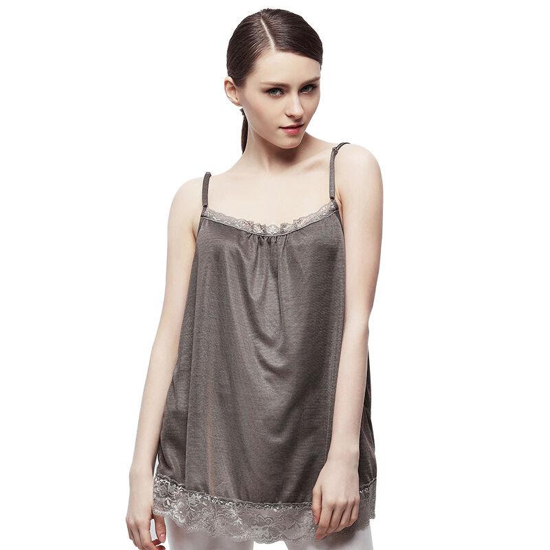 婧麒防辐射服孕妇装正品防辐射衣服怀孕期全银吊带裙XXL