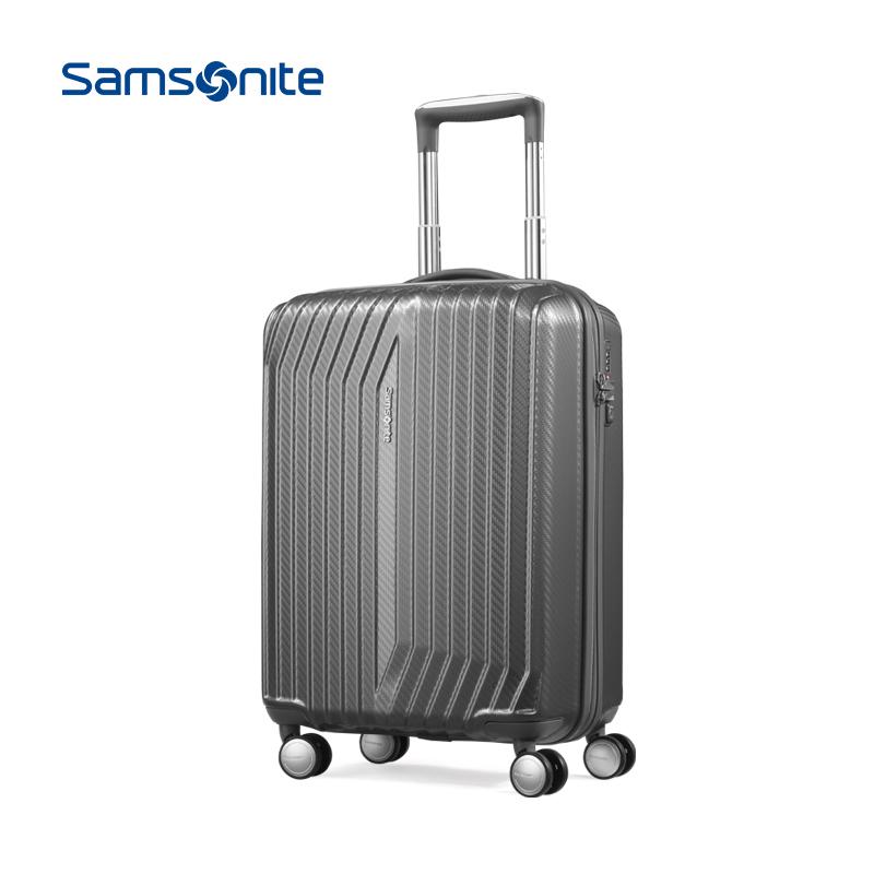 新秀麗/Samsonite Carson系列拉桿箱 萬向輪男女行李箱 BY1*08001 炭灰色20寸