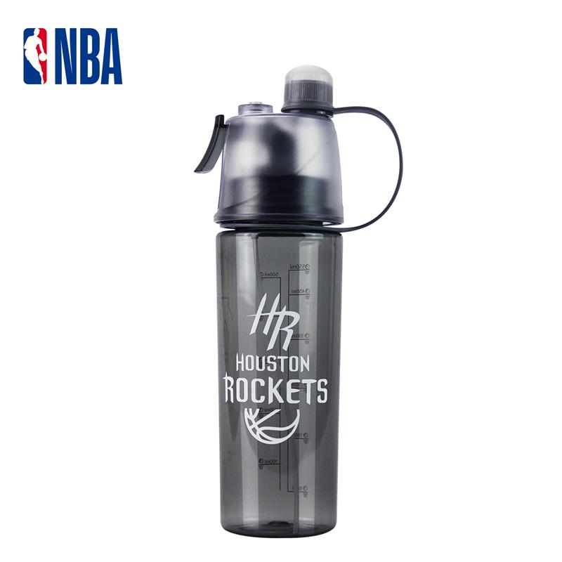 NBA籃球健身噴霧水杯便攜運動水壺個性騎行登山火箭隊