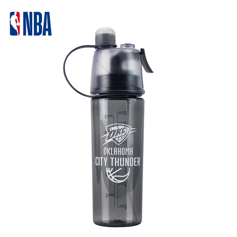 NBA籃球健身噴霧水杯便攜運動水壺個性騎行登山雷霆隊