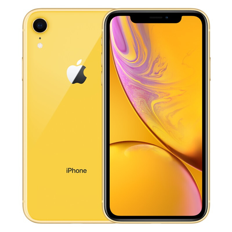 Apple iPhone XR (A2108) 64GB 黃色 移動聯通電信4G手機 雙卡雙待