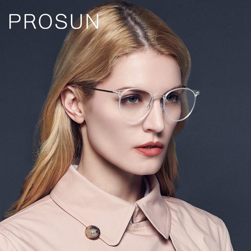 PROSUN保圣眼鏡男女簡約近視眼鏡圓臉眼鏡框個性圓框眼鏡架PJ5019B91