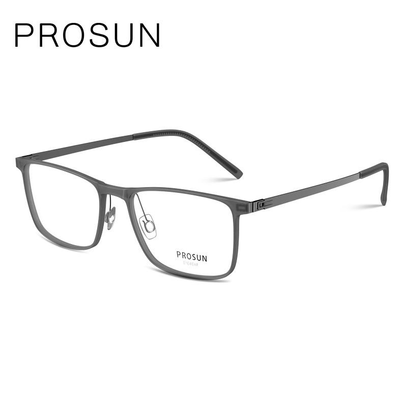 PROSUN保圣細邊復古方形眼鏡 日本潮男女款近視鏡框PJ5015B11