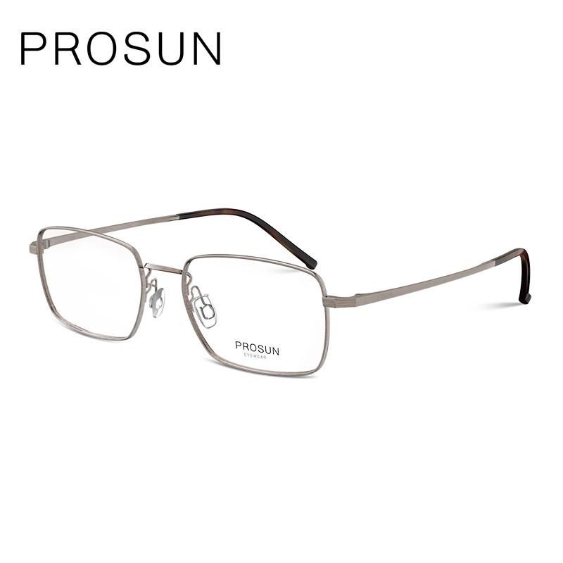 PROSUN保圣眼镜?#20449;?#31616;约近视眼镜圆脸眼镜框个性全框眼镜架PJ7007B20