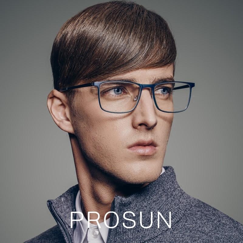 PROSUN保圣细边复古方形眼镜 日本?#36454;信?#27454;近视镜框PJ5015B70