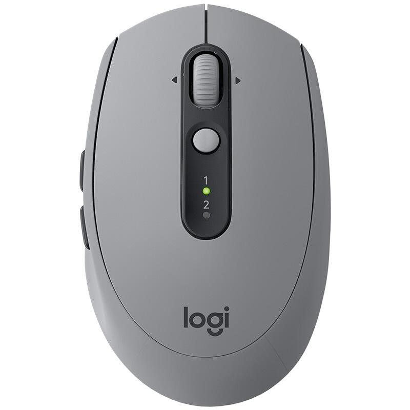 羅技M590靜音無線藍牙鼠標FLOW電腦筆記本臺式家用 灰色