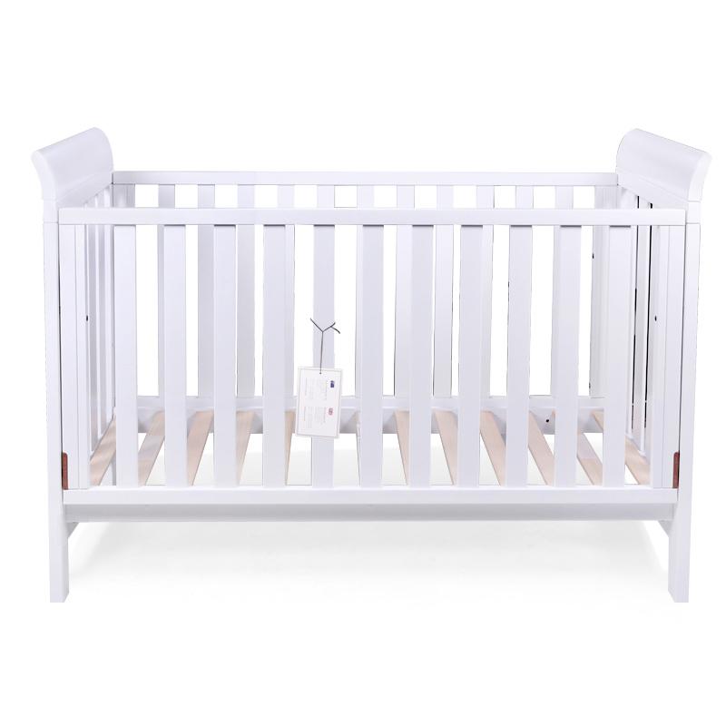 boori博瑞拜倫嬰童木床白色款寶寶款