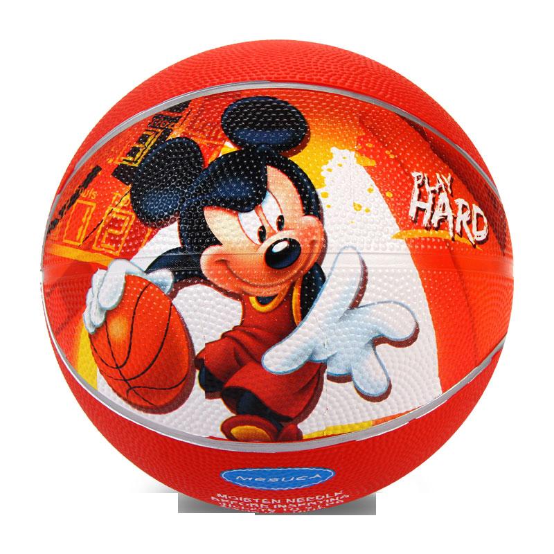 迪士尼(Disney)兒童橡膠籃球卡通形象3號兒童球送氣針DAA683-A