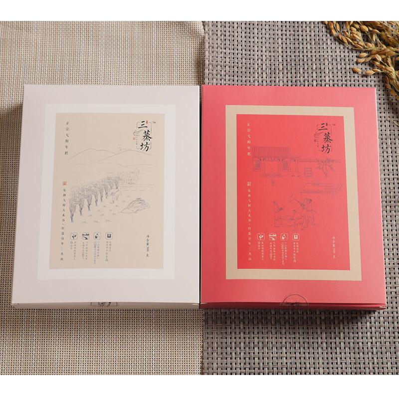 三蒸坊大禾米粿年糕4斤礼盒装  条状500g*2+片状500g*2